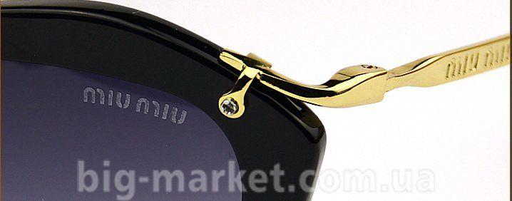 3ac9787c3919 Окуляри Miu Miu SMU 10 NS Black купити в Україні СНД Європа