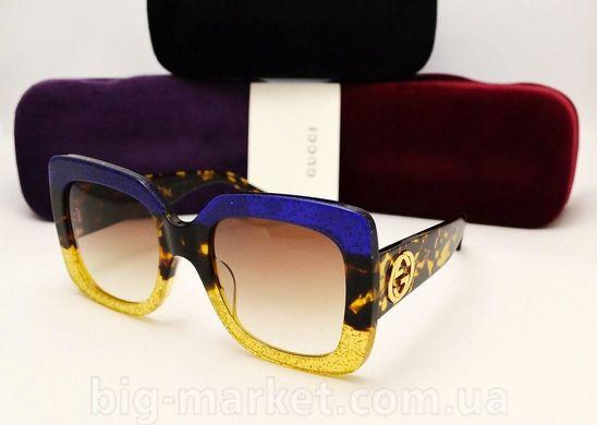 Окуляри Gucci GG 0083 S Blue-Gold купити в Україні 33518a2fb45a5